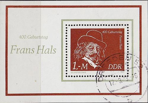 GERMANY DDR [1980] MiNr 2547 Block 61 ( OO/used ) Gemälde