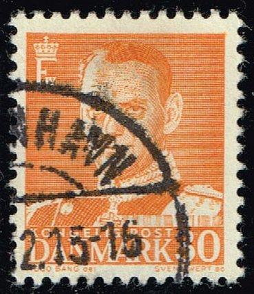 Denmark #309 King Frederik IX; Used (0.80) (2Stars) |DEN0309-01