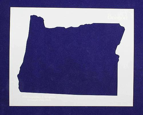 """State of Oregon Stencil 14 Mil 8"""" X 10"""" Painting /Crafts/ Templates"""