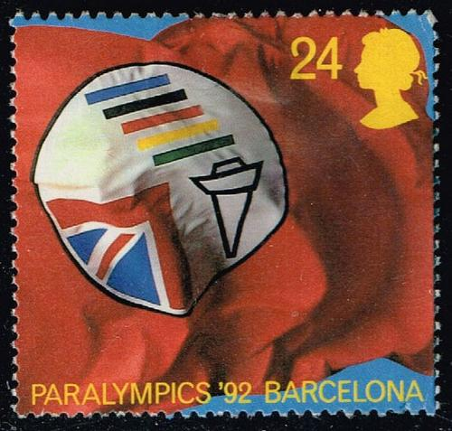 Great Britain #1452 Paralympic Assoc. Flag; Used (0.40) (2Stars) |GBR1452-01XVA
