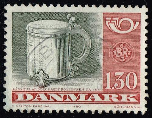 Denmark #670 Silver Tankard; Used (4Stars) |DEN0670-01XBC
