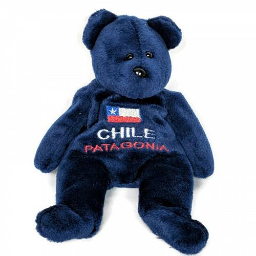 Chile Flag Patagonia Blue South America Bear Plush Stuffed Animal 2002 7.5""