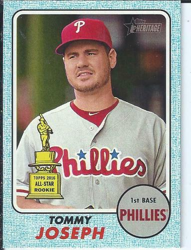 Tommy Joesph 2017 Topps Heritage Trophy Card Blue Parallel