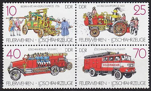 GERMANY DDR [1987] MiNr 3101-04 4er ( OO/used ) Autos
