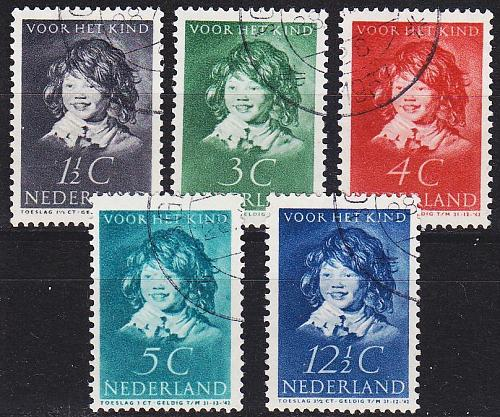 NIEDERLANDE NETHERLANDS [1937] MiNr 0308-12 ( O/used )