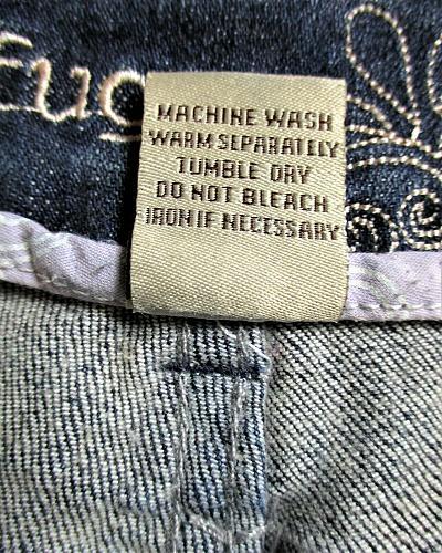 REFUGE womens Sz 3 W26 blue denim BERMUDA zip up stretch shorts (F)P