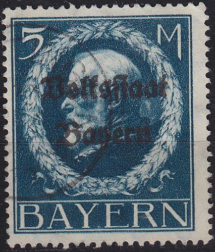 GERMANY Bayern Bavaria [1919] MiNr 0131 II A ( O/used )