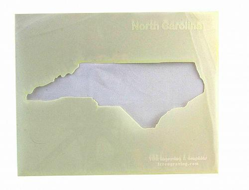 """State of North Carolina Stencil 14 Mil 8"""" X 10"""" Painting /Crafts/ Templates"""