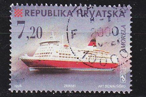 KROATIEN CROATIA [1998] MiNr 0480 ( O/used ) Schiffe