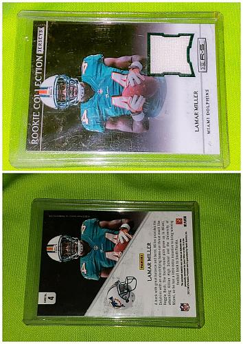 Nfl Lamar Miller Miami dolphins 2012 Panini Rookie Game-worn Jersey Mint