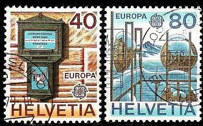 SCHWEIZ SWITZERLAND [1979] MiNr 1154-55 ( O/used ) CEPT