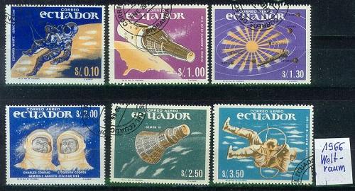 ECUADOR [1966] MiNr 1208-13 ( O/used ) Weltraum