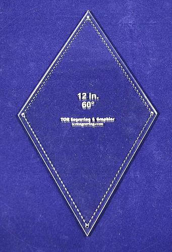 "Diamond Template 12"" - Clear 1/4""- 60 Degree"