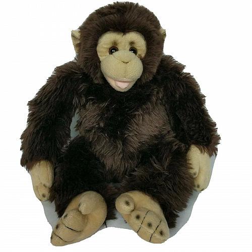 """Build A Bear Monkey Chimpanzee Brown Zoo Exclusive Plush BAB 2009 16"""""""