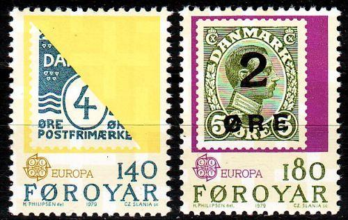 DÄNEMARK DANMARK [Färöer] MiNr 0043-44 ( **/mnh ) Briefmarken