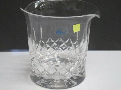 Hand cut glass ice bucket 24% lead crystal