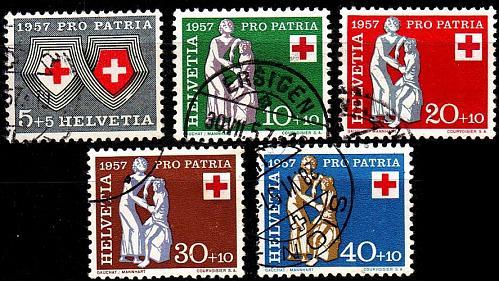 SCHWEIZ SWITZERLAND [1957] MiNr 0641-45 ( O/used ) [01] Pro Patria
