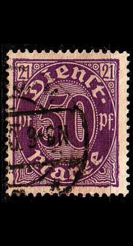 GERMANY REICH Dienst [1920] MiNr 0021 ( O/used )