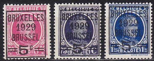 BELGIEN BELGIUM [1929] MiNr 0251-53 ( */mh )