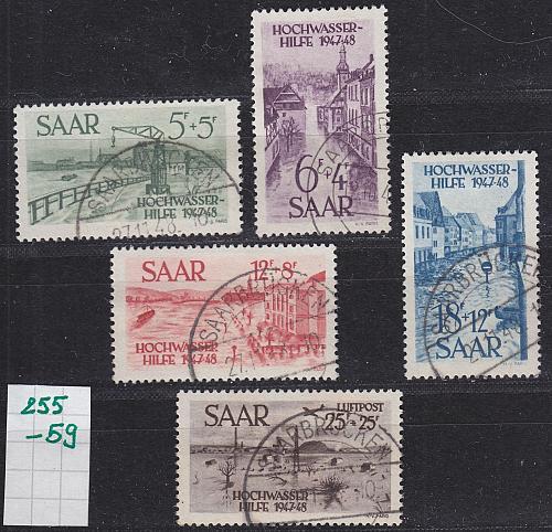 GERMANY Saar [1948] MiNr 0255-59 ( O/used )