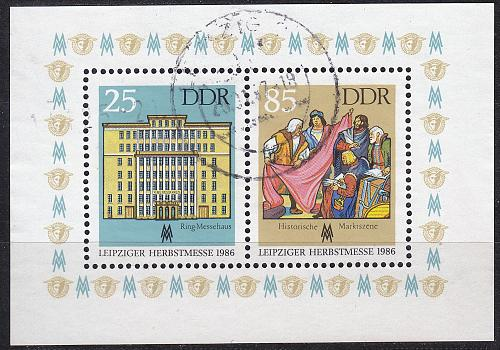 GERMANY DDR [1986] MiNr 3038-39 Block 85 ( OO/used )