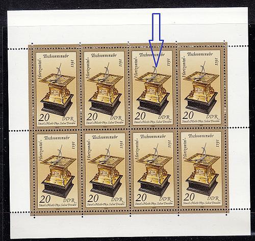 GERMANY DDR [1983] MiNr 2798 KB F03 ( **/mnh ) Plattenfehler