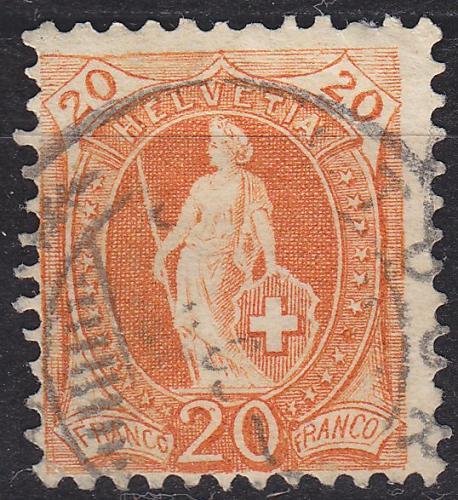 SCHWEIZ SWITZERLAND [1882] MiNr 0058 Y D c ( O/used )