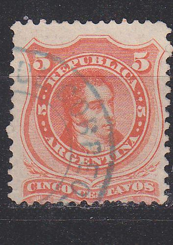 ARGENTINIEN ARGENTINA [1867] MiNr 0020 I ( O/used )
