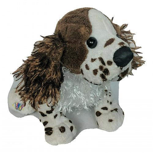 Ganz Webkinz Brown White Springer Spaniel Dog Stuffed Animal HM170 No Code 11""
