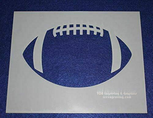 """Football Stencils L Mylar 2 Pieces of 14 Mil 8"""" X 10"""" - Painting /Crafts/ Templa"""
