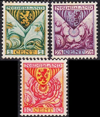 NIEDERLANDE NETHERLANDS [1925] MiNr 0164-66 A ( */mh )
