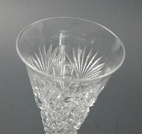 ABP Cut glass sherry stemware Hand cut antique