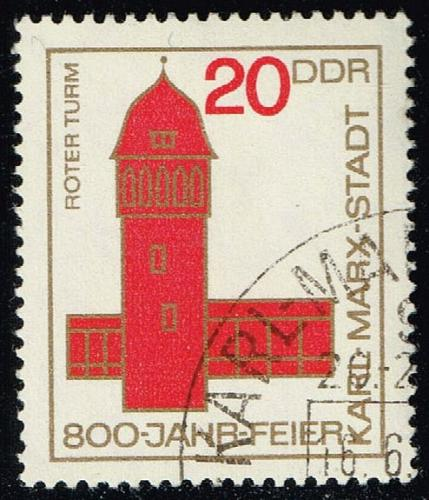 Germany DDR #776 Red Tower; CTO (0.25) (4Stars) |DDR0776-01