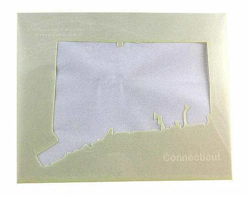 """State of Connecticut Stencil 14 Mil 8"""" X 10"""" Painting /Crafts/ Templates"""