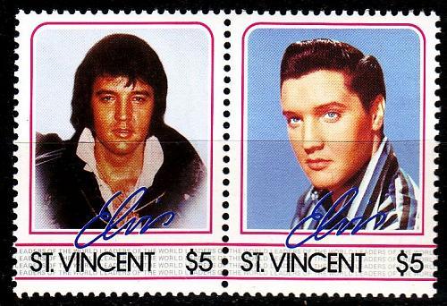ST. VINCENT [1985] MiNr 0868+69 ( **/mnh ) Elvis Presley