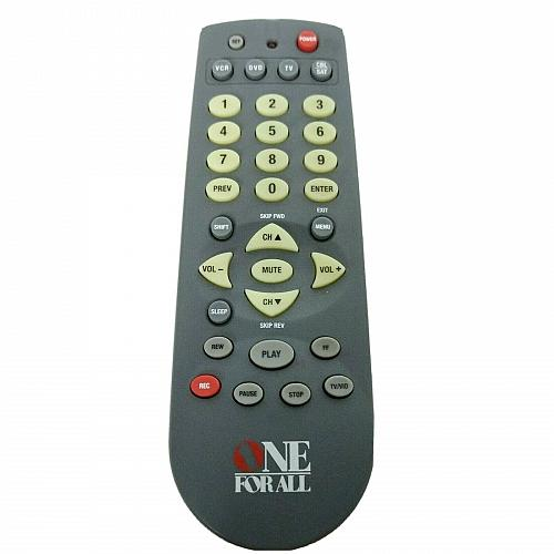 Genuine One For All Universal TV VCR Remote Control URC-4640B00 Tested Works