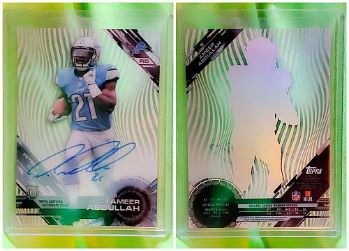 NFL 2015 Topps High Tek Pattern 1 Grass/Waves Ameer Abdullah #82 Autographed Rc