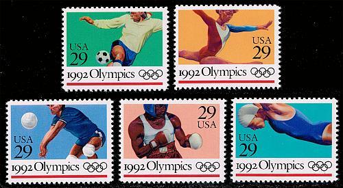US #2637-2641 Summer Olympics Set of 5; MNH (3.00) (4Stars) |USA2641set-01