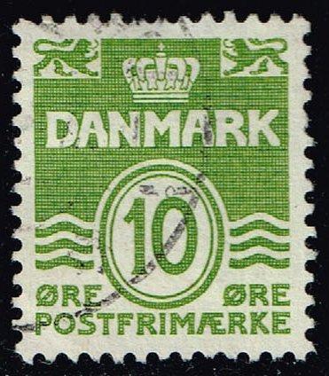 Denmark #318 Numeral; Used (0.25) (3Stars) |DEN0318-09