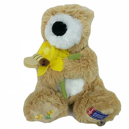"Boyds Bears American Cancer Society Bear Daffodil Plush Stuffed Animal 2007 7"""