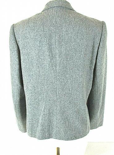 Koret womens L/S gray 100% MERINO WOOL 2 button fully lined jacket (F)