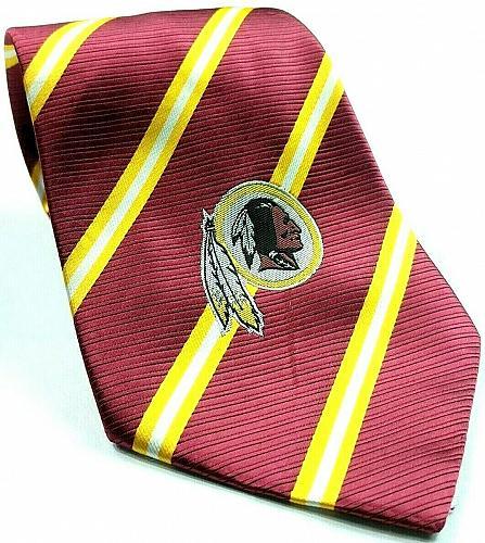 Washington Redskins NFL Football Red Gold Striped Novelty Necktie