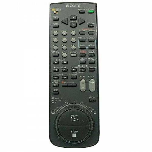 Genuine Sony TV VTR Remote Control RMT-V130 Tested and Works