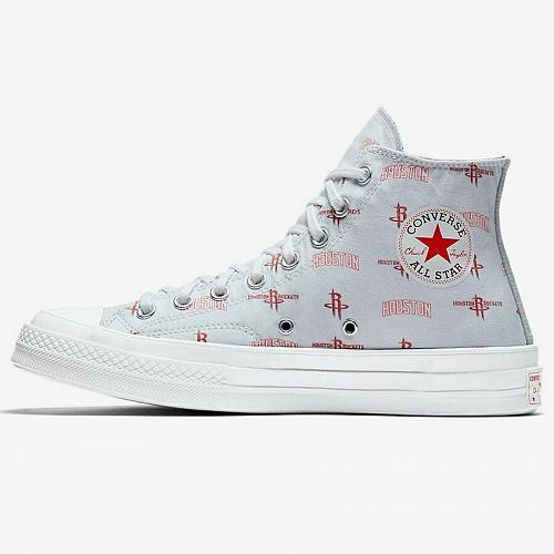 Converse X NBA Hi Houston Rockets 161162C Chambray High Top Sneakers All Size