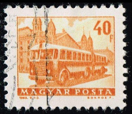 Hungary #1510 Bus and Trailer; CTO (0.25) (3Stars)  HUN1510-01