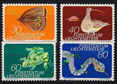 LIECHTENSTEIN [1973] MiNr 0591-94 ( **/mnh ) Tiere