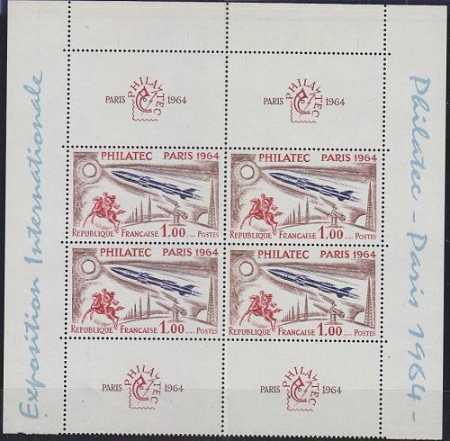 FRANKREICH FRANCE [1964] MiNr 1480 KB ( **/mnh ) 4er mit Zierfelder