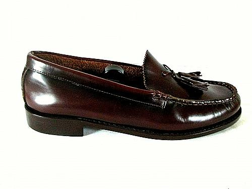 Regal Burgundy Leather Tassels Slip On Loafer Dress Shoes Men's 8.5 M (SM4)