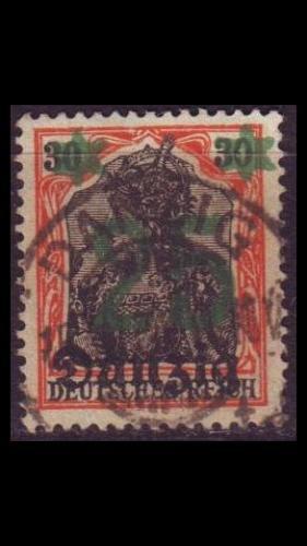 GERMANY REICH Danzig [1920] MiNr 0018 ( OO/used )