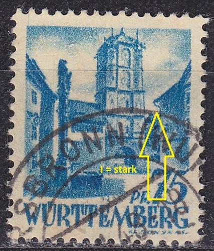 GERMANY Alliiert Franz. Zone [Württemberg] MiNr 0011 vv I ( O/used )